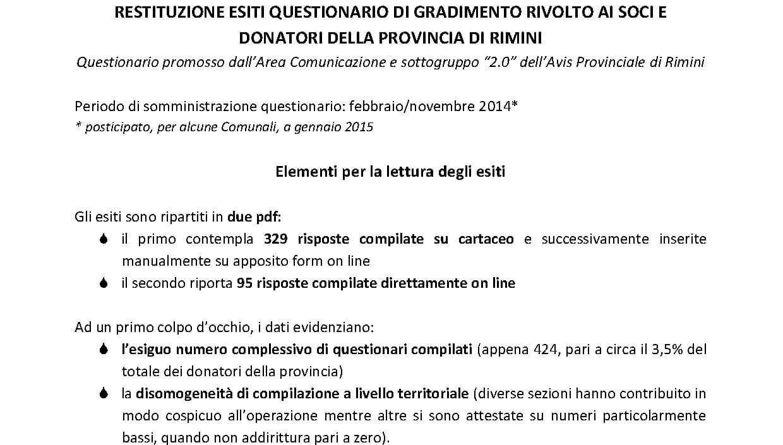 Restituzione_esiti_questionario_gradimento