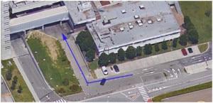 Percorso pedonale da parcheggio