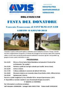AVIS Novafeltria - Santarcangelo - Verucchio @ Convento Sant'Igne San Leo | Emilia-Romagna | Italia