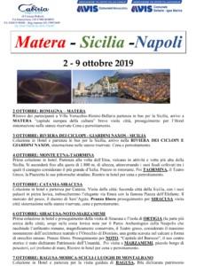 Gita a Matera - Sicilia - Napoli con Avis Bellaria-Igea M. e Avis Verucchio
