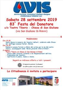 83^ Festa del donatore @ Teatro Tiberio Rimini