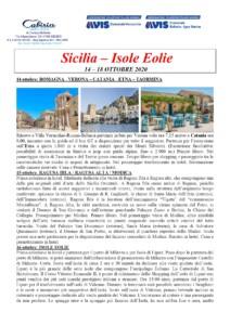 Sicilia - Isole Eolie 14-18 ottobre 2020 - AVIS Bellaria-Igea M. - AVIS Verucchio @ Sicilia - Isole Eolie | Sicilia | Italia