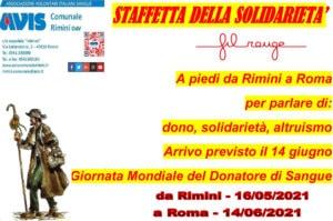 Staffetta della Solidarietà - Fil rouge - Avis Comunale Rimini